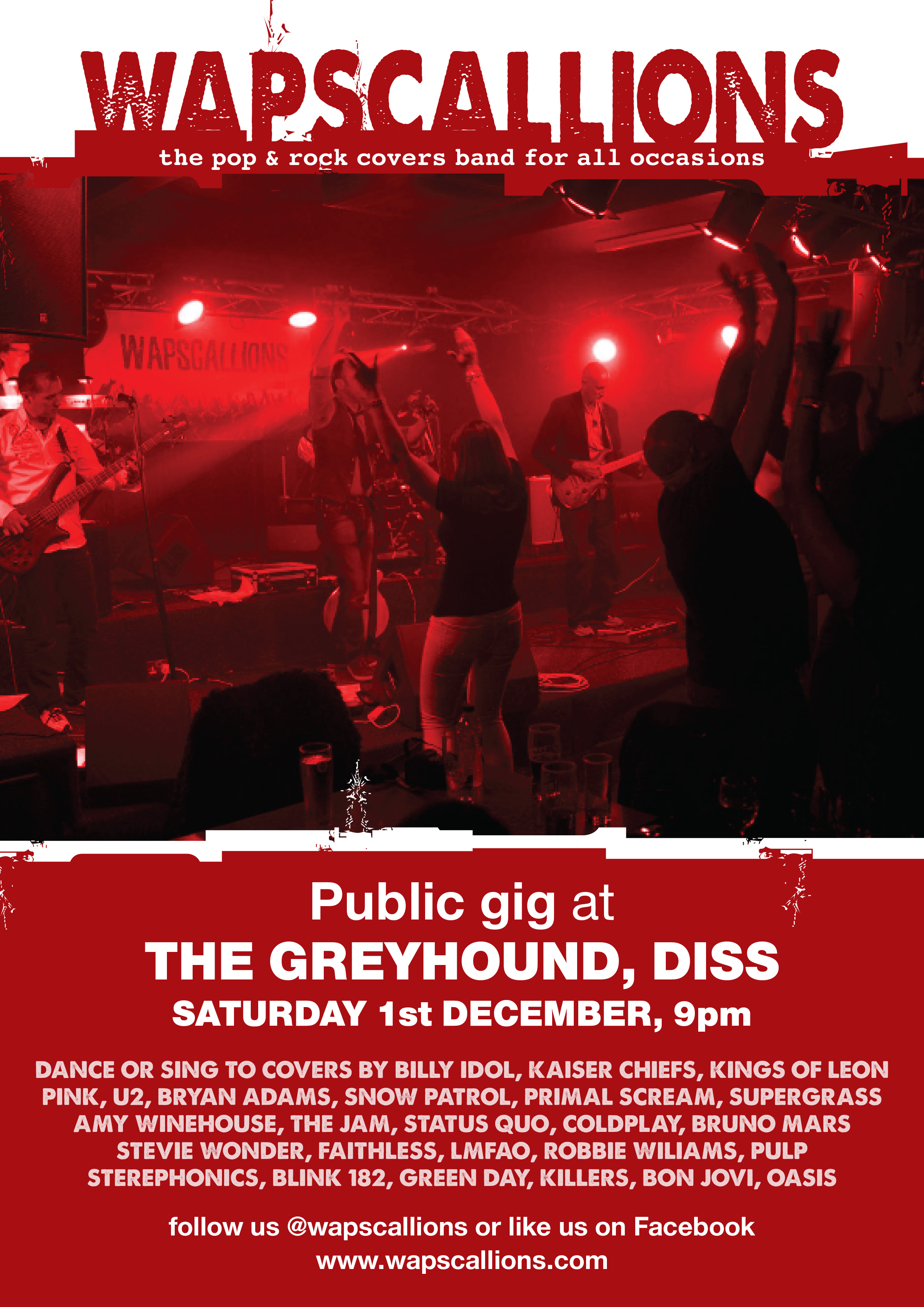 Diss Greyhound - Wapscallions Rock and Pop Covers Band, Norwich